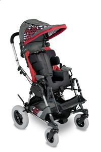 Red Racing Stripe Cross-Over Kid Kart Upholstery